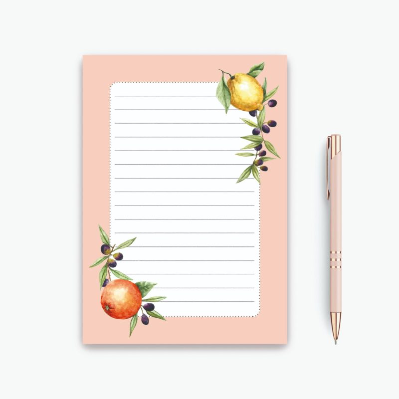 List Notepad - Citrus and Olives