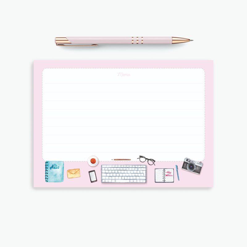 Blocco Fogli a Righe - Happy Desk