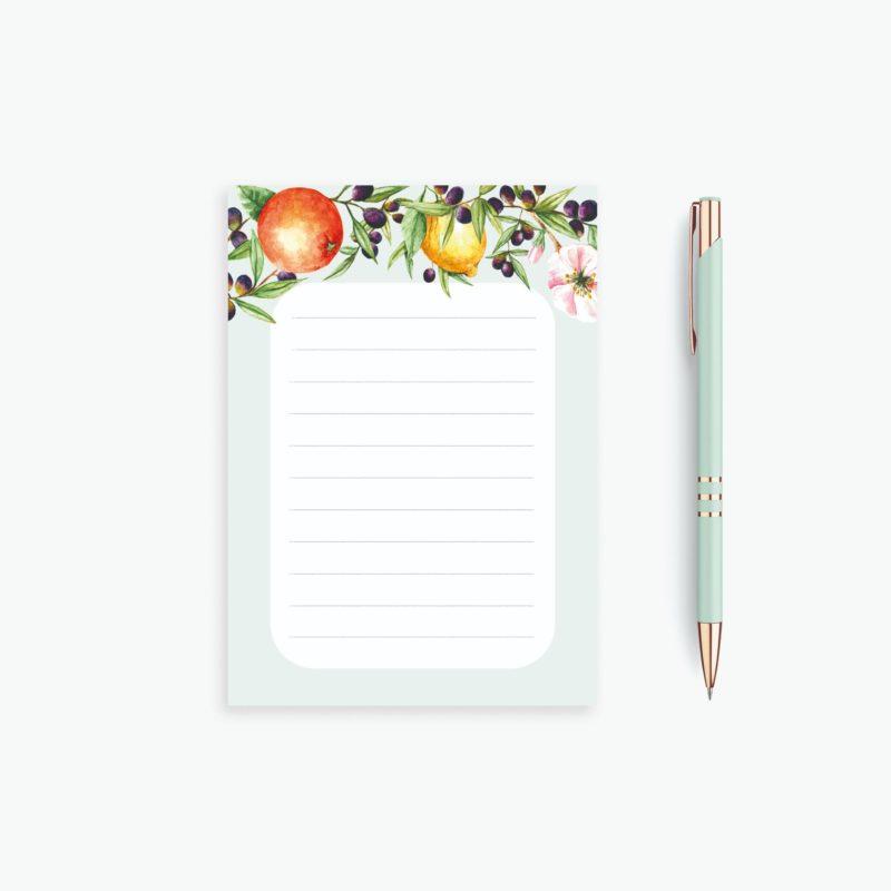 Mini Notepad - Mini Citrus