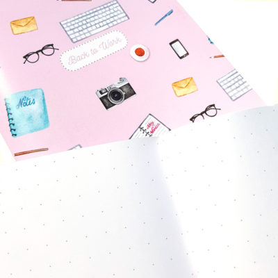 """Back to Work"" journals are great for planning, organizing and writing down your daily life"