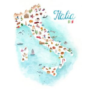 Original Watercolor Italia