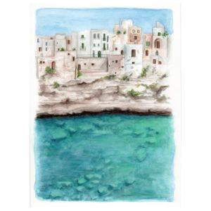 Original Watercolor Polignano