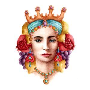 Original Watercolor - Sicilian Woman