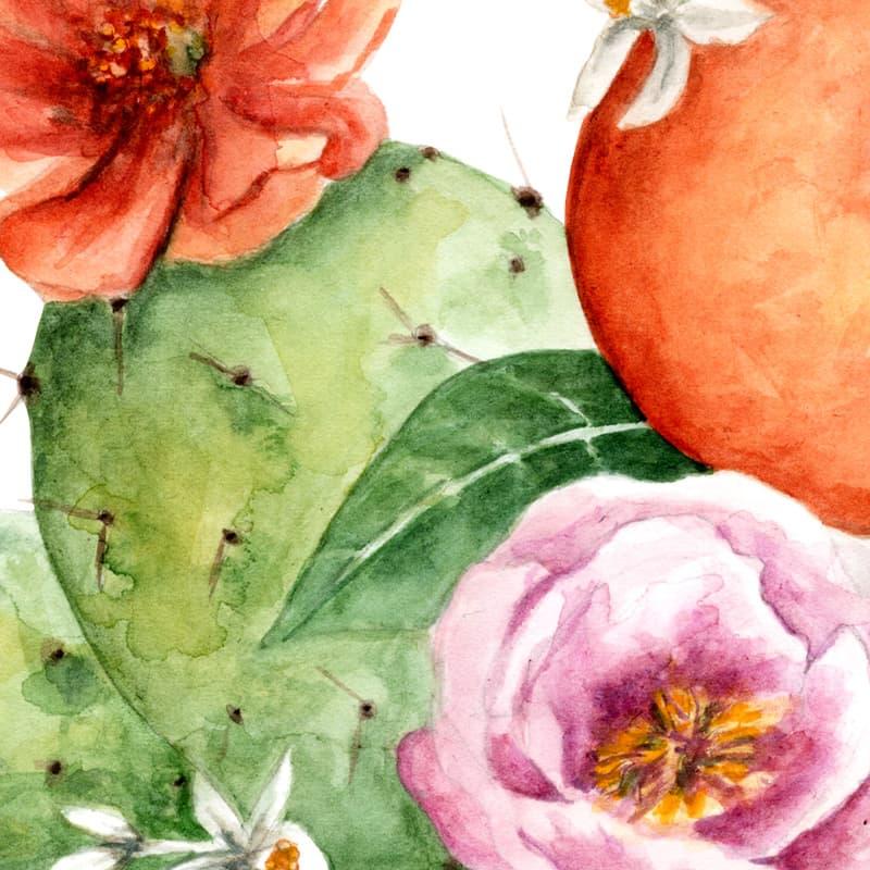 Original Watercolor Sicily Sweetness