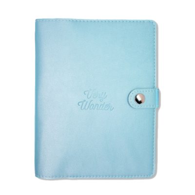 2020 light blue planner with perforated sheets weekly view monthly view