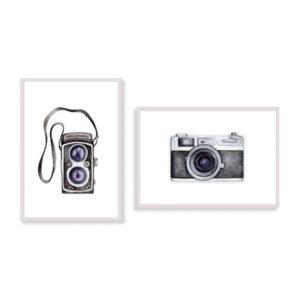 Le stampe artistiche Photographer sono un set di due stampe per decorare le pareti di casa o del tuo ufficio. E' una stampa in acquerello realizzata in Italia
