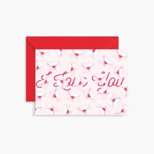 Valentines Day Greeting Card - I Love You