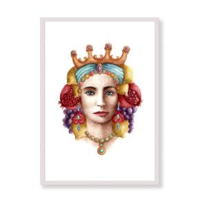 Sicilian Woman è una stampa artistica per decorare le pareti di casa o del tuo ufficio. E' una stampa in acquerello realizzata in Italia