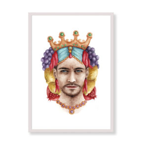 Moorish Head is a fine art print perfect to decor your home, office or studio. It is printed in Italy with the highest quality materials