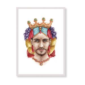 Moorish Head è una stampa artistica per decorare le pareti di casa o del tuo ufficio. E' una stampa in acquerello realizzata in Italia