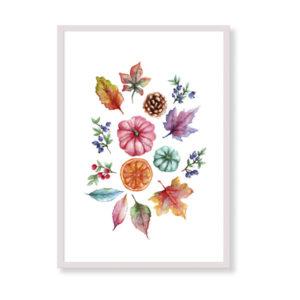 Colorful Fall è una stampa artistica per decorare le pareti di casa o del tuo ufficio. E' una stampa in acquerello realizzata in Italia