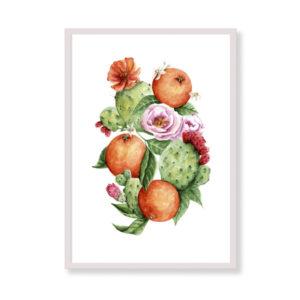 Sicily Sweetness è una stampa artistica per decorare parete cucina o del tuo ufficio. E' una stampa in acquerello realizzata in Italia