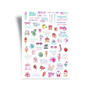 Day Planner Stickers - Pencils and Colours