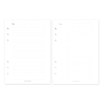 Planner Additional Sheets