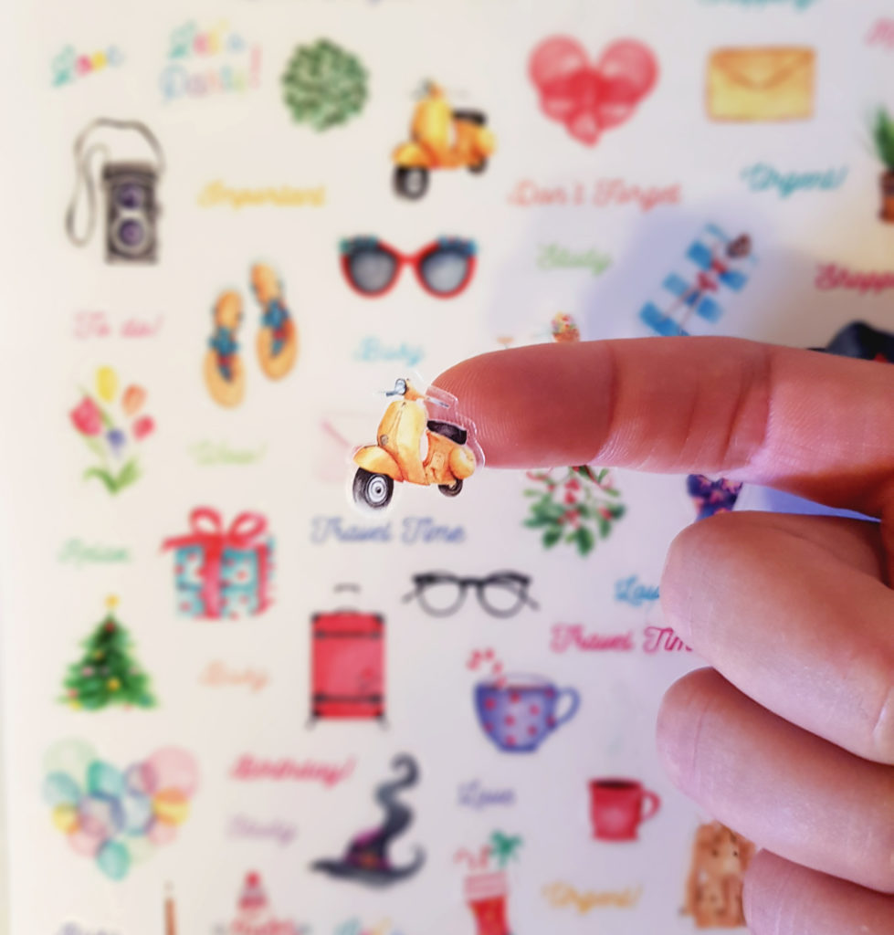 A Year of Wonder sheet to decorate your planner, notebooks, notepad, and notes in general. Very good to study and organize your notes. Watercolour stickers, Stickers, Transparent Stickers, Illustrations