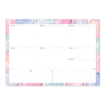 Block Notes – Weekly Desk Pad WonderColours