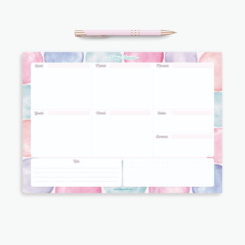 Weekly Planner Notepad - WonderColours