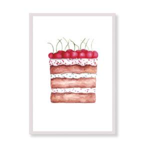 """La stampa perfetta per la tua cucina! Cherry Cake sarà bellissima nella tua casa, è coloratissima e super """"golosa""""!"""