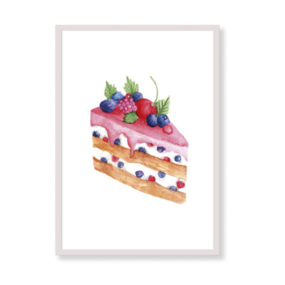The perfect art print for your kitchen! Creamy will be beautiful in your home, it is colorful and tasty!