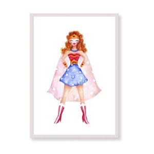 Stampa artistica - Very Wonder Woman - La stampa perfetta per una donna speciale della tua vita! Questa stampa è l'idea regalo perfetta per un compleanno, per la festa della mamma e per ogni occasione speciale!