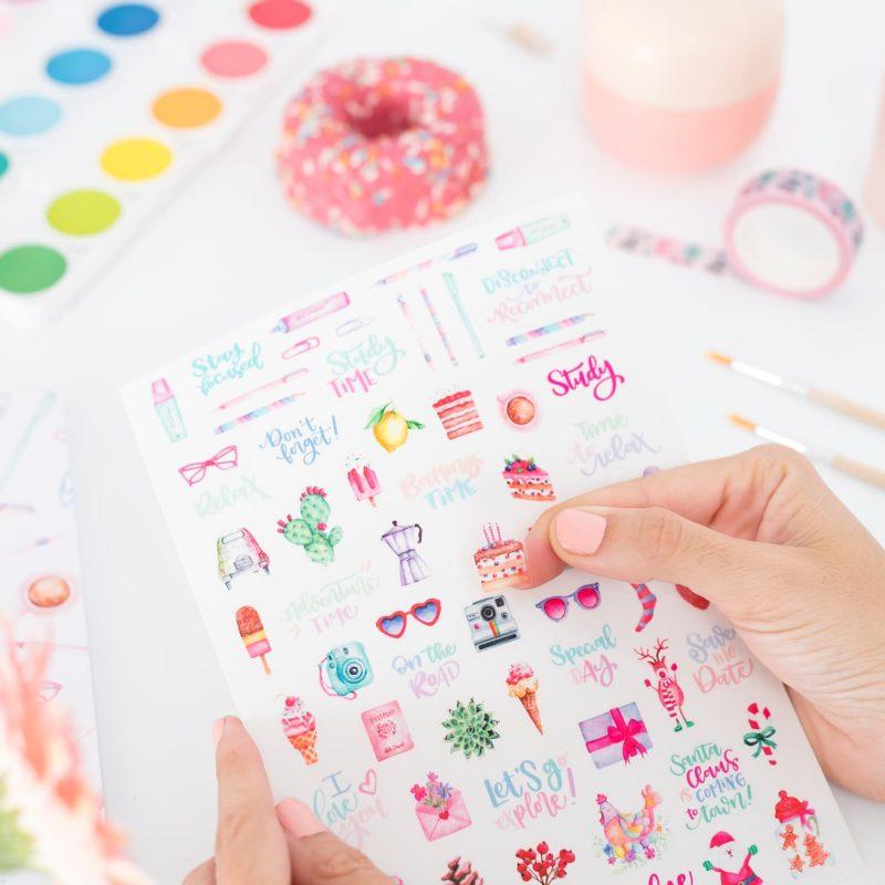 Stickers per decorare agenda - Planning Colorful