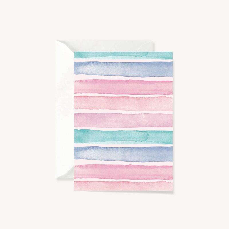 Greeting Card Wonder Stripes
