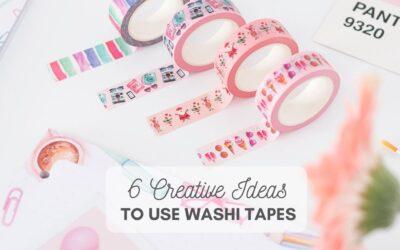 6 idee creative con i washi tapes