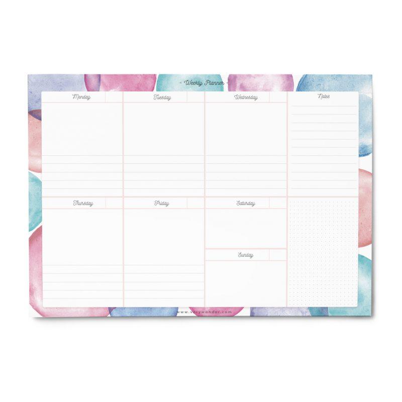 Planner Settimanale da Tavolo - WonderColours