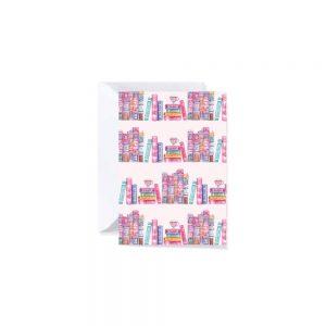 Cartolina di auguri per amanti dei libri