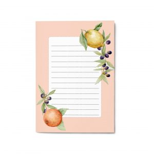 Blocco per appunti elegante - Citrus and Olives